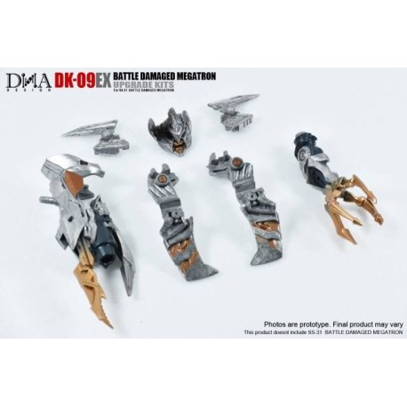 DNA Design DK-09EX Megatron Battle Damaged Upgrade Kit