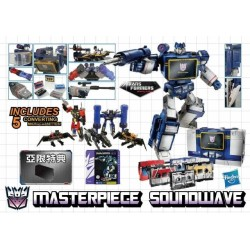 Transformers Asia Exclusive Masterpiece Soundwave w/ 5 Cassettes