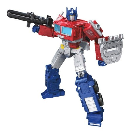 Transformers War for Cybertron Siege Voyager Optimus Prime w/ Trailer