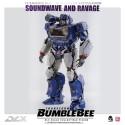 Three Zero Transformers Bumblebee DLX  Scale Collectible Series Soundwave & Ravage