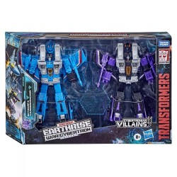Transformers War For Cybertron Earthrise Voyager Skywarp & Thundercracker 2 Pack